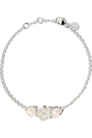 SHAUN LEANE Women Bracelets - Cherry Blossom single diamond and pearl bracelet - STERLING