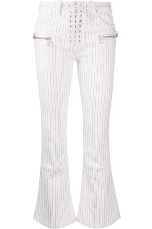 UNRAVEL PROJECT Striped flared trousers