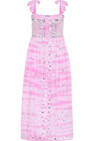 Juliet Dunn Exclusive to Mytheresa – Embellished cotton midi dress