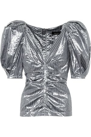 Isabel Marant Exclusive to Mytheresa – Magini striped metallic top