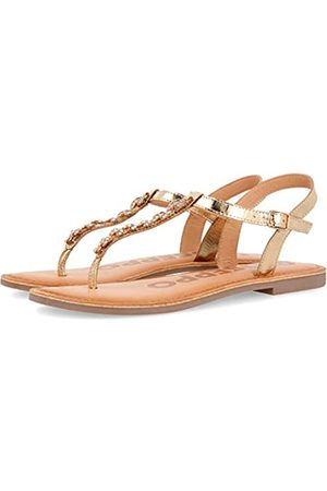 GIOSEPPO Women's Harrells Open Toe Sandals, (Oro Oro)