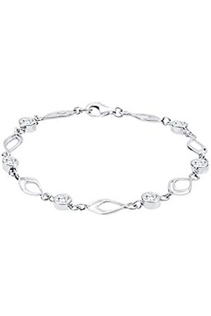 Elli Women Feder Silver Bracelet of Length 18cm