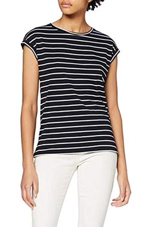 Dorothy Perkins Women's Navy Roll Sleeve Organic Stripe Tee T-Shirt