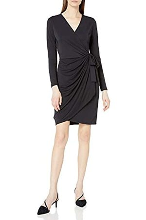 Lark & Ro Long-Sleeve Wrap Dress