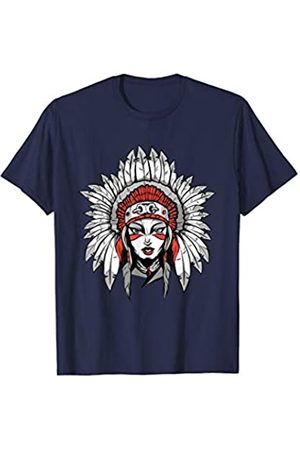 Wild Native T-Shirt tribal woman skull Vest Womens