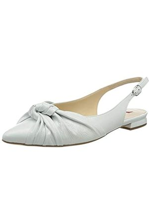 Högl Women's COMELY Closed Toe Ballet Flats, (Weiss 0200)