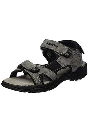 Dockers by Gerli Men's 42th004-200236 Sling Back Sandals, (Asphalt/Blau 236)