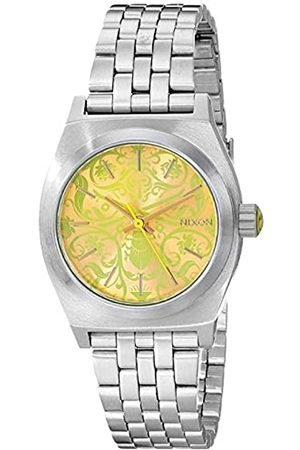 Nixon Ladies'Watch XS Small Plate Time Newon Yellow Dial Analogue Display and Stainless Steel A 3991898-00
