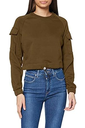 Urban classics Women's Sweatshirt Ladies Short Worker Crewneck Pullover Sweater