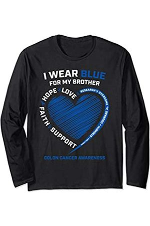 Colon Cancer Awareness Gifts by Alexis Mae I Wear For My Brother Colon Cancer Awareness Men Women Long Sleeve T-Shirt