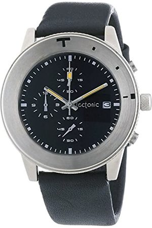 Tectonic Men's Quartz Watch with Dial Chronograph Display and Leather Strap 41-6900-44