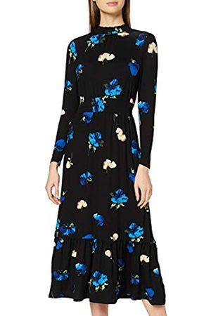 Dorothy Perkins Women's Floral Tiered Shirred Neck Midaxi Dress Casual