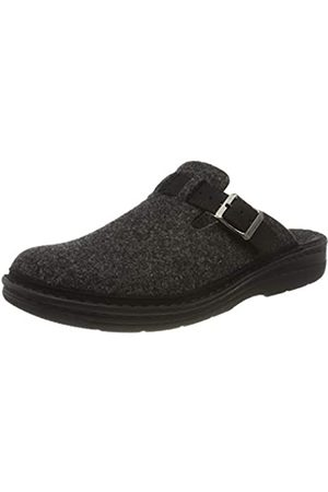 Berkemann Men's Mirko Open Back Slippers, (Dunkelgrau 937)