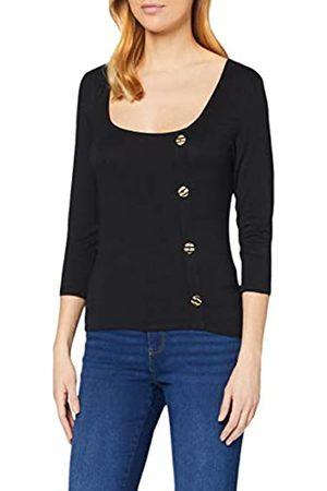 Dorothy Perkins Women's Half Sleeve Asymetric Button Through Top Shirt