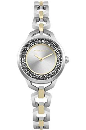 KAREN MILLEN Unisex-Adult Analogue Classic Quartz Watch with Stainless Steel Strap KM171SGM
