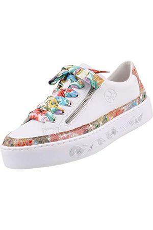 Rieker Women's Frühjahr/Sommer Low-Top Sneakers, (Ginger-Multi/Weiss 90)