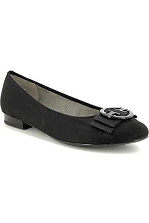 ARA Women's PISA 1263361 Closed Toe Ballet Flats, (Schwarz 71)