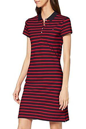 Tommy Hilfiger Women's Slim Stripe Polo Dress, (Breton STP/Desert Sky Pri 0E9)