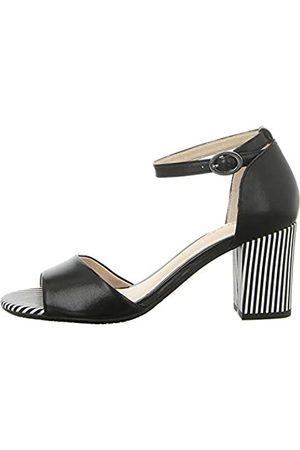 Gerry Weber Shoes Women's Letizia 12 Open Toe Sandals, (Schwarz 100)