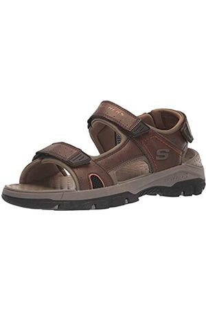 Skechers Men's TRESMEN HIRANO Open Toe Sandals, ( Synthetic BRN)