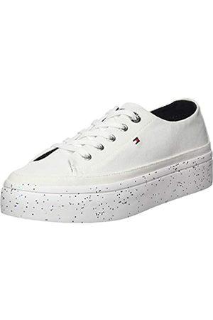 Tommy Hilfiger Women's Glitter Flatform Sneaker Low-Top, ( Ybs)