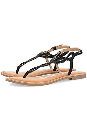 Gioseppo Women's Fyffe Open Toe Sandals, (Negro Negro)