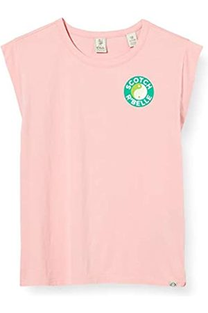 Scotch & Soda Girl's Boxy Short Sleeve Tee in Organic Cotton with Placed Artworks T-Shirt