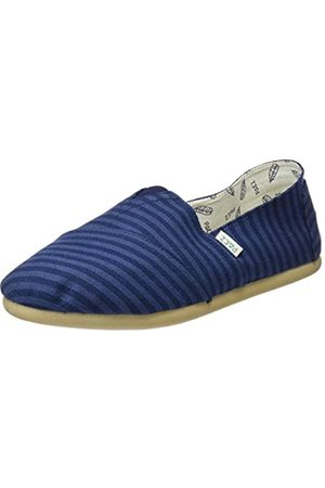 Paez Men's Original-Classic Stripes Espadrilles, (Navy)