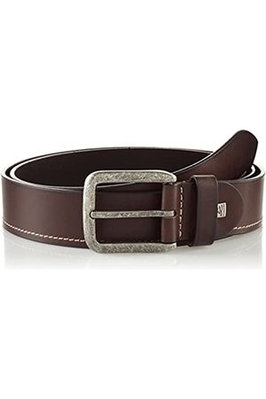 Lindenmann Mens leather belt/Mens belt, full grain leather belt, dark brown