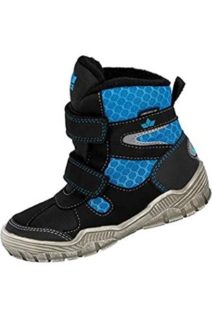 LICO Boys' Agila V Snow Boots, (Schwarz/Blau Schwarz/Blau)
