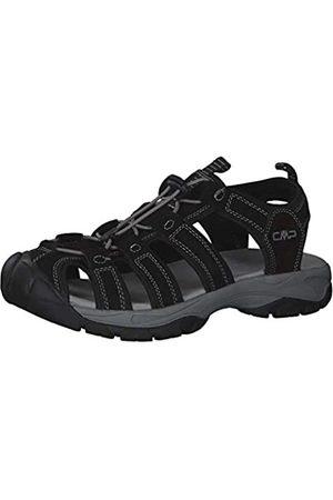 CMP Men's Sahiph Leather Hiking Sandal, (Nero U901)
