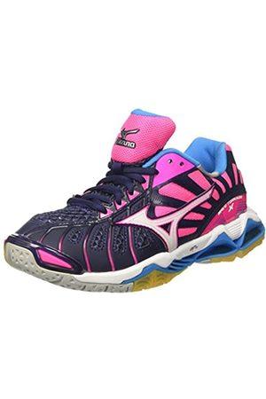Mizuno Women's Wave Tornado X WOS Volleyball Shoes, Multicolor (Peacoat/ /pinkglo)
