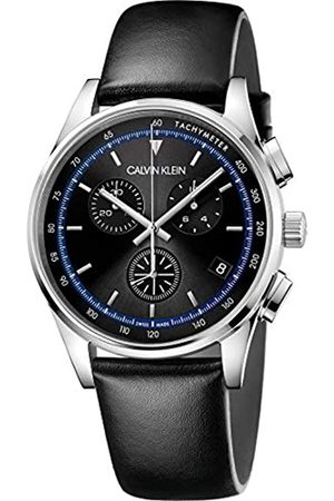 Calvin Klein Men's Analogue Quartz Watch with Real Leather Strap KAM271C1