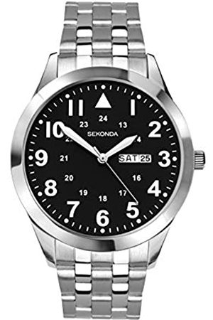 Sekonda Mens Analogue Classic Quartz Watch with Stainless Steel Strap 1663.27