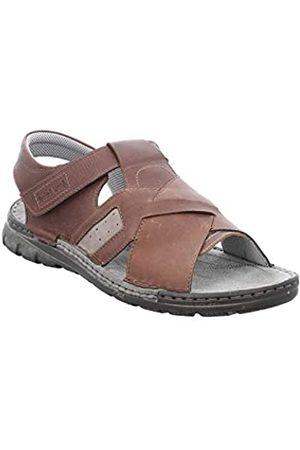 Josef Seibel Men's John 09 Ankle Strap Sandals, (Castagno-Kombi 144 351)