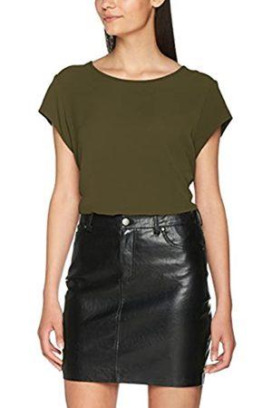 Only Women's onlVIC S/S SOLID TOP NOOS WVN Plain Regular Fit Short Sleeve T - Shirt