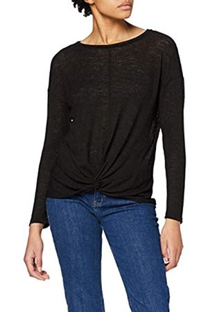 Dorothy Perkins Women's Twist Front Textured Rib Long Sleeve Top Blouse
