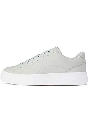 CARE OF by PUMA Leather Platform Court Low-Top Sneakers, (Gray-Peach Bud)