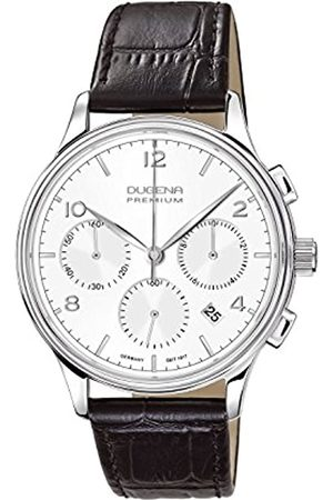 DUGENA Men's Premium Quartz Watch with Dial Chronograph Display and Leather Strap