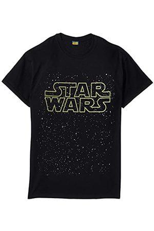 STAR WARS Men's Logo Gold Short Sleeve T-Shirt