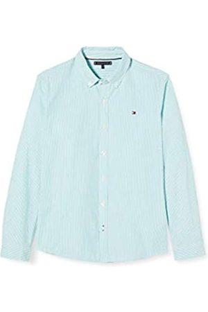 Tommy Hilfiger Boy's Seersucker Stripe Shirt L/S (Exotic Teal/Multi 0MT)