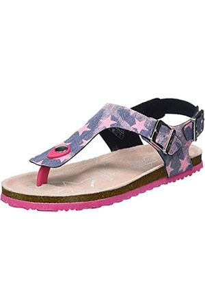 TOM TAILOR Girls' 8072219 Flip Flops, (Navy-Rose 00298)