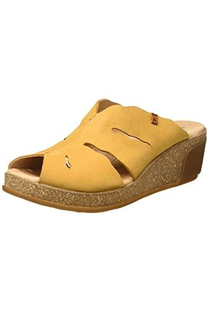 El Naturalista Women's N5009 Pleasant Leaves Mules, (Curry Curry)