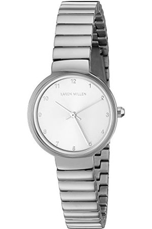 Karen Millen Women's Quartz Watch with Dial Analogue Display and Stainless Steel Bracelet KM131SM