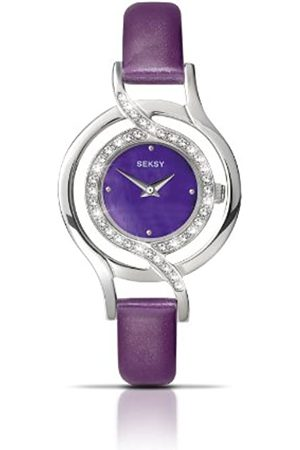 Sekonda Seksy Ladies' Quartz Watch with Mother Of Pearl Dial Analogue Display and Leather Strap 4524.37