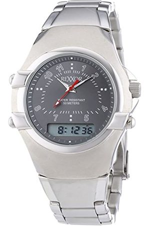 Rexxor Gentlemen-Wristwatch XL Dial with Analogue Display and Stainless Steel Bracelet 242-7903-88