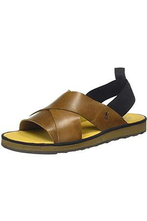 Fly London Men's BLAK185FLY Open Toe Sandals, (Camel 001)