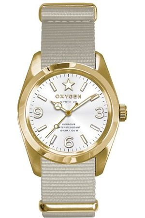 Oxygen Nugget 38 Unisex Quartz Watch with Dial Analogue Display and Nylon Strap