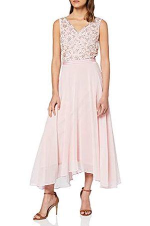Dorothy Perkins Women's Blush Valerie Embellishment Bodice Asymmetric Midi Dress Casual