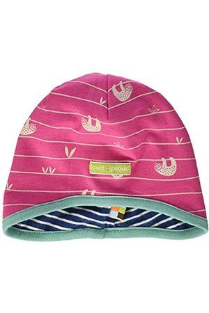 loud + proud Baby Girls' Reversible Cap Allover Print Organic Cotton Hat